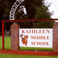 Kathleen Middle School Sign with a Tiger